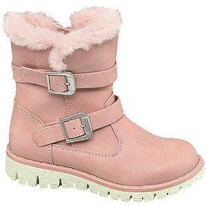 Różowe ocieplane kozaczki dziewczęce Cupcake Couture