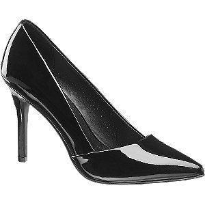 Czarne lakierowane szpilki damskie Graceland