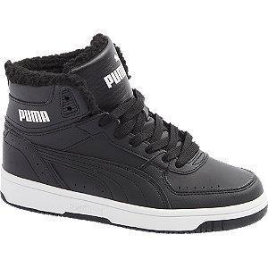 Czarne ocieplane sneakersy dziecięce Puma REBOUND JOY