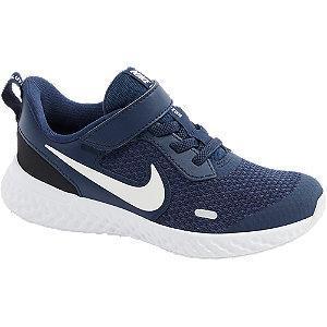 Granatowo-białe sneakersy dziecięce Nike Revolution 5
