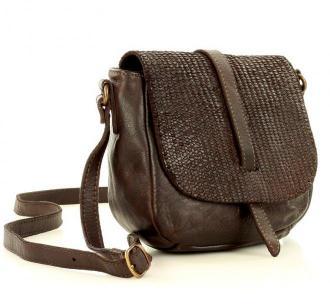 Marco Mazzini Torebka listonoszka saddle bag genuine leather brąz caffe - Zdjęcie 1