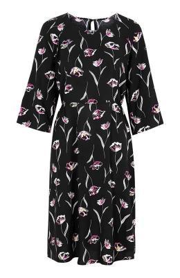 Cellbes Wzorzysta sukienka z raglanowymi r?kawami Czarny w kwiaty - Zdjęcie 1