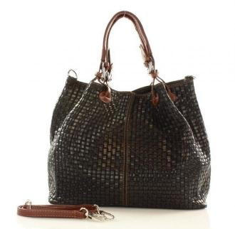 Skórzana torebka shopper MAZZINI - LINDA czarna - Zdjęcie 1