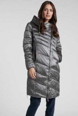 Połyskujący pikowany płaszcz - Zdjęcie 1