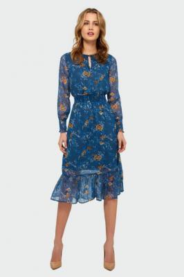 Elegancka sukienka z nadrukiem - Zdjęcie 1