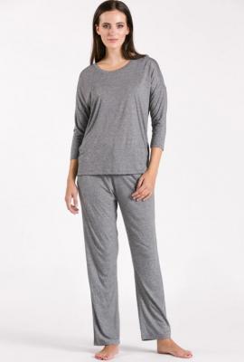 Góra od piżamy z drobnym wzorem - Zdjęcie 1