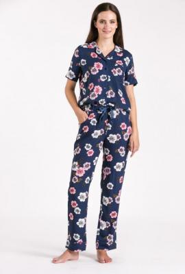 Dół od piżamy w kwiaty - Zdjęcie 1