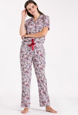 Dół od piżamy w kwiatki - Zdjęcie 1