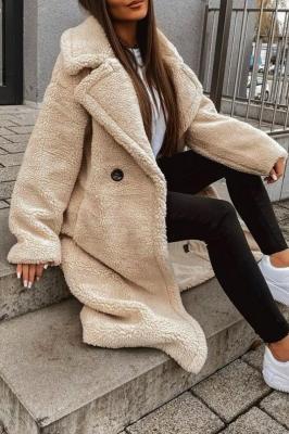 Płaszcz damski SEVILA BEIGE - Zdjęcie 1