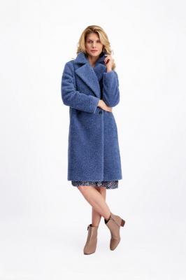 Płaszcz damski niebieski Luna Niso 84806 - Zdjęcie 1