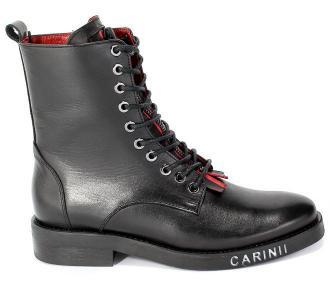 Trzewiki Carinii B5752-E50-000-000-E00 Czarne Skóra - Zdjęcie 1