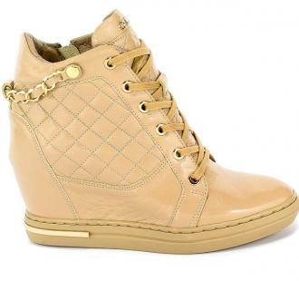Sneakersy Carinii B5385-O31-000-000-B88 Beż Skóra - Zdjęcie 1
