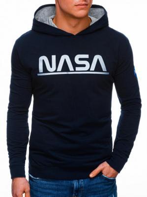 Bluza męska z kapturem 1273B - granatowa - XXL - Zdjęcie 1