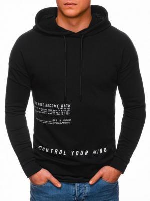 Bluza męska z kapturem 1329B - czarna - XL - Zdjęcie 1