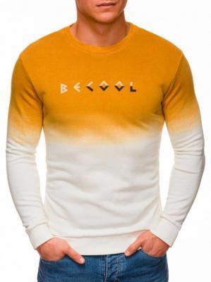 Bluza męska bez kaptura 1333B - musztardowa - L - Zdjęcie 1