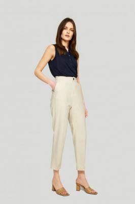Eleganckie, lniane spodnie - Zdjęcie 1